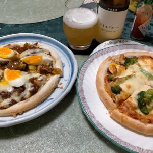 ■ポテサラカレーピザ &母子寸劇
