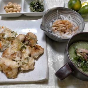 ■オクラのすり流し汁■鶏マヨソテー &秋だー食欲覚醒
