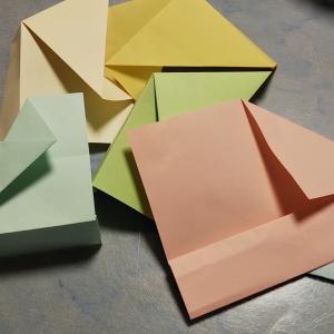 六角形の箱、折ってみました
