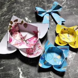 折り紙一枚で出来る箱