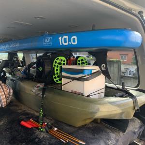 車内積み検討!10ft空気入りSUP&10ft足漕ぎカヤック