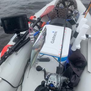ホンダ2馬力で釣り船を追いかけてタチウオ5本!