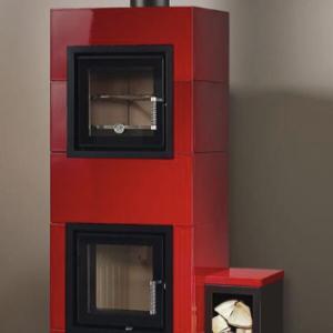 バイオマス蓄熱暖炉センティスにオーブンモデル