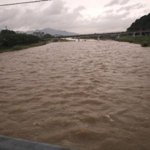 九州豪雨、河川の氾濫