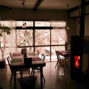 寒気が流れ込み冬が来たみたい #福岡輸入暖炉