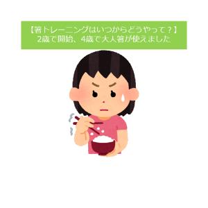 【実録!箸トレーニング】4歳で大人箸が使えるようになってわかった、箸トレの最重要事項は使う箸!