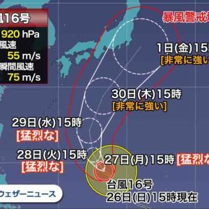 【神力】台風16号①被害回避の依頼