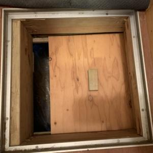 床下点検口の防寒対策