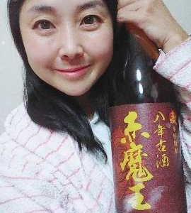 本日の晩酌写メ☆八年古酒赤魔王!