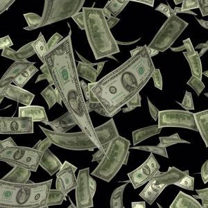 マンションの ベランダから 5万ウォン札を ばら撒く