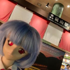 通算5回目雨のKYOTO(嵐山嵐山駅エヴァストア)レイちゃんと一緒