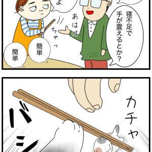 箸置きに箸を乗せるのは難しい?