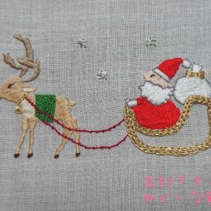 季節のはがき刺繍~12月