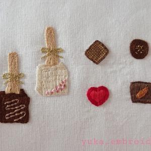 季節のはがき刺繍~2月