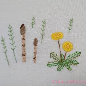 季節のはがき刺繍~3月