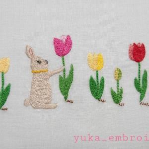 季節のはがき刺繍~4月