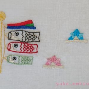 季節のはがき刺繍~5月