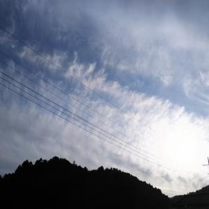 参拝後の雲が素晴らしくて