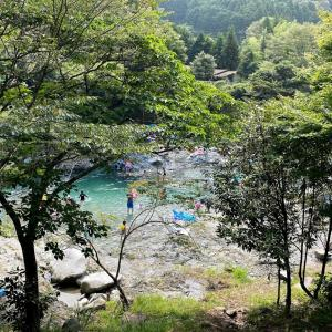 今年は川遊びリベンジ成功!~中川温泉ぶなの湯の駐車場へ(神奈川・丹沢)