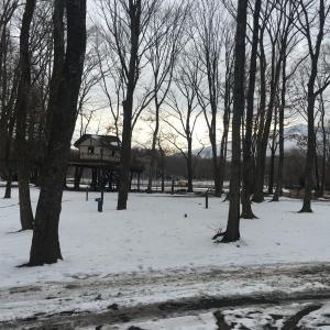 冬キャンプは北軽井沢スウィートグラスで!(1日目)~狼煙サイトで設営を最小限に