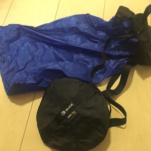 キャンプの衣類収納をコンパクトに~イスカ(ISUKA)コンプレッションバッグMをお試し購入
