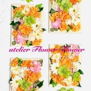 初めてさんもお気軽に・オンラインレッスンで花コラージュを楽しく作ってお部屋を素敵に夏仕様に