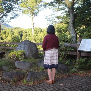 道志みちで最初に富士山の見える二里塚で