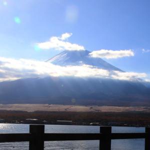 山中湖の北側にて