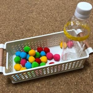 3歳0か月 100均グッズでプットインの手作りおもちゃ新作!