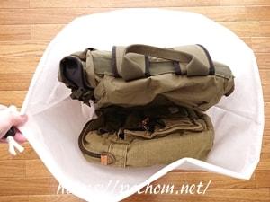 セリアの不織布で大きめバッグ用の収納袋を作成