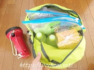 避難用の持ち出し袋には何を入れていますか?