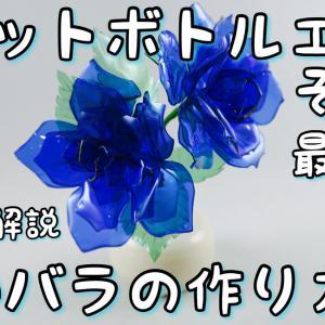 【その4】ペットボトルで青い薔薇を作る How to make blue rose no.4