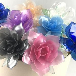 【ペットボトル工作】とても簡単!美しいバラ How to make transparent rose.