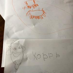 もうすぐ6歳の絵がスゴイ ダウン症初の画像になれるか?