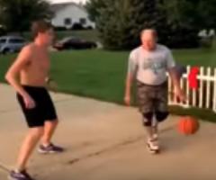 【動画】冴えない感じの中年おじさんが魅せたバスケのスゴ技