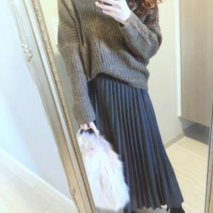 先日のコーデ♡今年な雰囲気のニットと驚かれたスカート