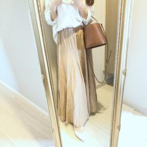 155センチでも引きずらない♡ロングなのに軽やかな雰囲気のフレアスカート