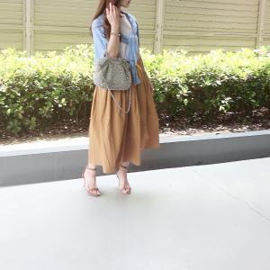 先日のコーデ♡タフタスカート
