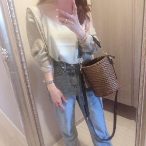 先日のコーデ♡キャミ×シアーシャツ
