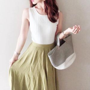 先日のコーデ♡低身長向けにも嬉しいRe:EDIT きれい色スカート