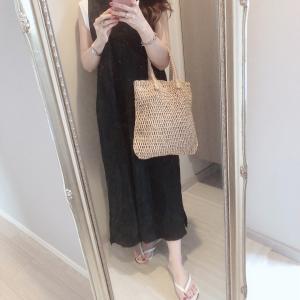 先日のコーデ♡またまたバッグスタイルが可愛いワンピ