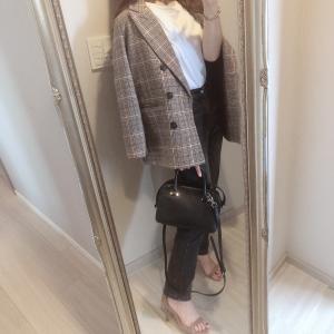 先日のコーデ♡秋っぽさ満点のチェックジャケット