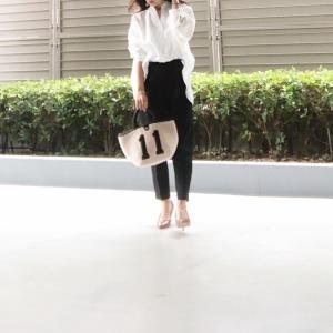 先日のコーデ♡ゆったりなサイズ感が魅力の白シャツ