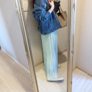 シワになりにくくて良い♡プチプラプリーツスカート