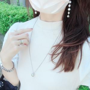 血色マスクとアクセ♡