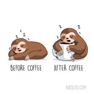 drink coffee to wake up?