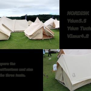 【ノルディスク】ユドゥン5.5×ユドゥンミニ×ヴィルム4.8 人気A型テントのサイズやスペックの違いを詳しく紹介