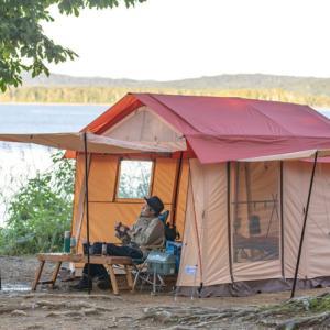 【テンマク】ガレージテント 佐久間氏(さくぽん)の情熱が全部詰まったソロキャンプ仕様のロッジテント