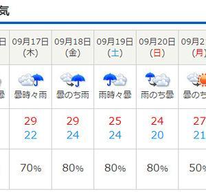 当日は雨模様