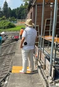 ヘラブナ釣り 空調服と麦わら帽子